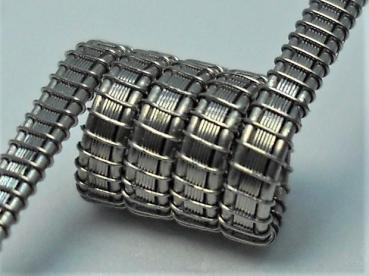 """ Panzerkette "" Framed Staple Coil 2*0,40 NiCr+6*0,10x0,40 V2A"